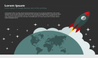 powerpoint slide with rocket starting from earth